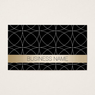 Luxury Black & Gold Optometrist Business Card