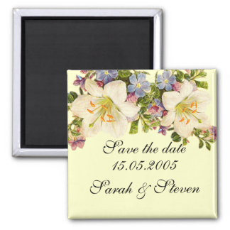 Luxury Bouquet Spring Floral Save the date Fridge Magnets