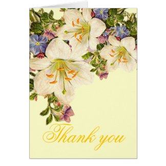 Luxury Bouquet Spring Floral Thank you card
