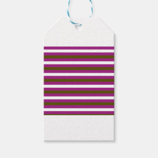 Luxury brown colorful stripes with white gift tags
