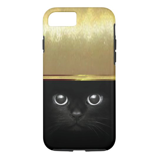 Luxury Cat Eyes iPhone 7 Gold Shell Case