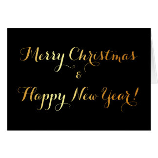 Luxury christmas greeting card with golden text