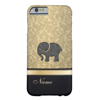 Luxury classy damask vintage elephant monogram barely there iPhone 6 case
