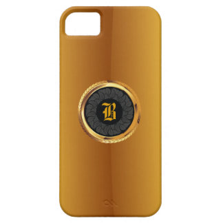Luxury Dark Floral Badge Gold iPhone 5 Case