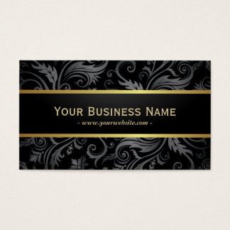 Luxury Dark Floral Patterns Business Card