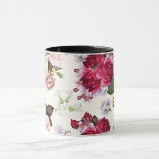 Luxury designers mug with floral Art