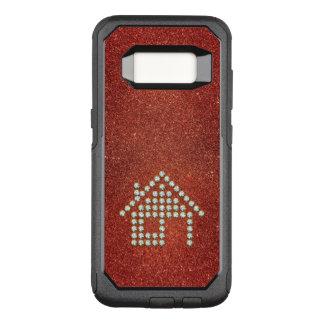 Luxury Diamond Home | Red Glitter OtterBox Commuter Samsung Galaxy S8 Case