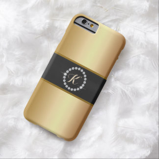 Luxury Diamond Ring Monogram Gold iPhone 6 Case