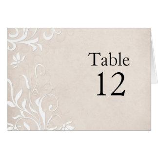 Luxury Elegant Light Beige Floral Table card