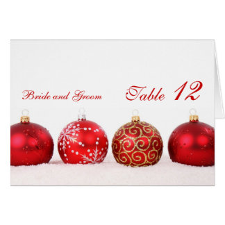 Luxury Elegant Winter Holiday Table number card