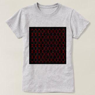 Luxury ethno Morocco vintage : Red with Black T-Shirt