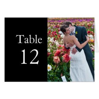 Luxury Flowers Wedding Photo Kiss Table card