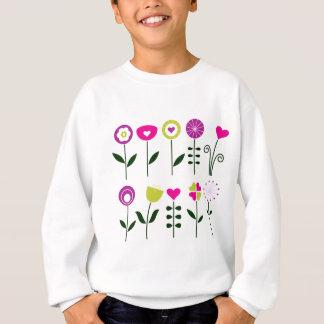 Luxury folk Flowers on white Sweatshirt