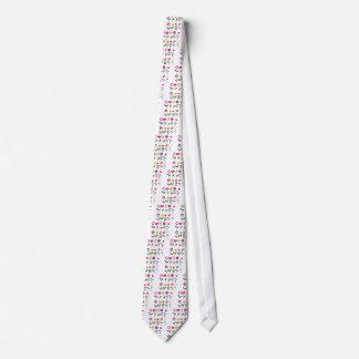 Luxury folk Flowers on white Tie