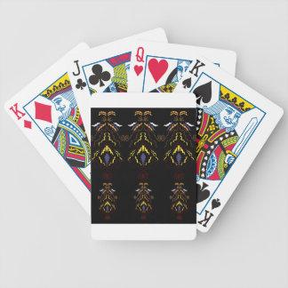 Luxury folk mandalas on black bicycle playing cards