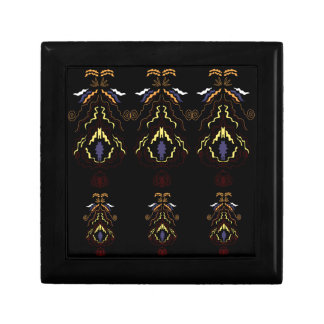 Luxury folk mandalas on black gift box
