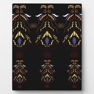 Luxury folk mandalas on black plaque