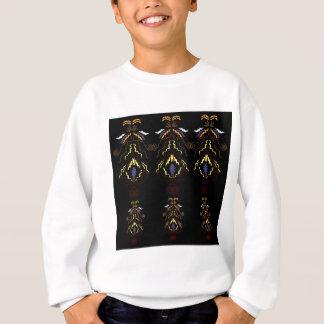 Luxury folk mandalas on black sweatshirt