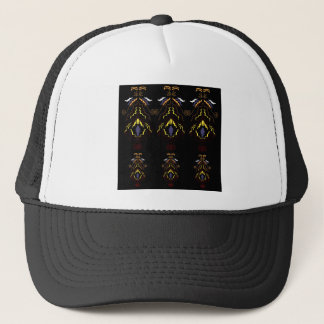 Luxury folk mandalas on black trucker hat