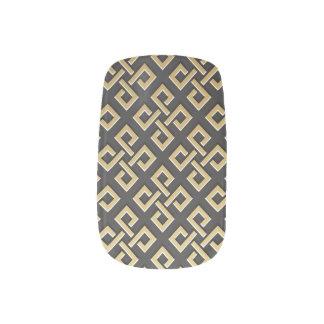 Luxury Geometric Golden Metallic Minx Nail Art