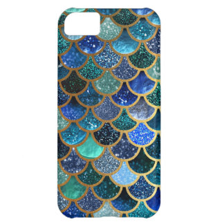 Luxury glitter Blue Teal Mermaid scales Case For iPhone 5C