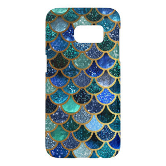 Luxury glitter Blue Teal Mermaid scales Samsung Galaxy S7 Case