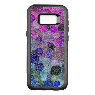 Luxury Glitter Dots and Circles - colorful purple OtterBox Commuter Samsung Galaxy S8+ Case