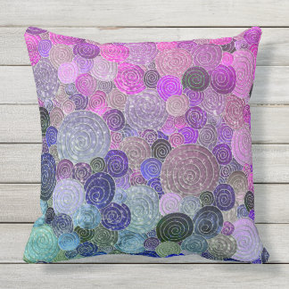 Luxury Glitter Dots and Circles - colorful purple Throw Pillow