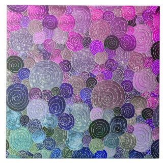 Luxury Glitter Dots and Circles - colorful purple Tile