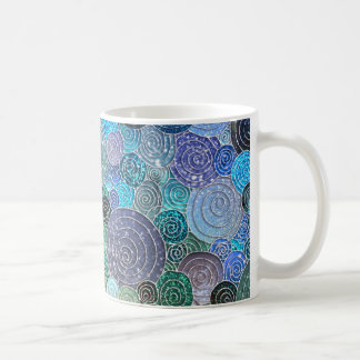 Luxury Glitter Dots and Circles - Fresh Aqua Coffee Mug