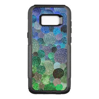 Luxury Glitter Dots and Circles - Fresh Aqua OtterBox Commuter Samsung Galaxy S8+ Case