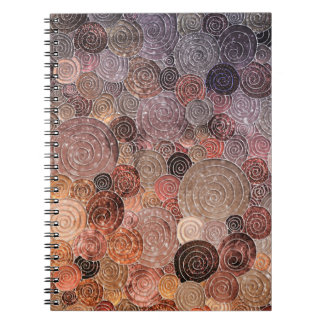 Luxury Glitter Dots and Circles - Warm Brown Notebook