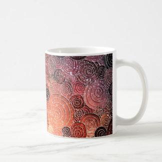 Luxury Glitter Dots and Circles - Warm Orange Coffee Mug