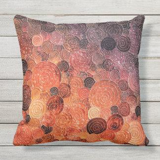 Luxury Glitter Dots and Circles - Warm Orange Throw Pillow