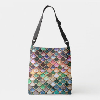 Luxury Glitter Mermaid Scales - Multicolor Crossbody Bag