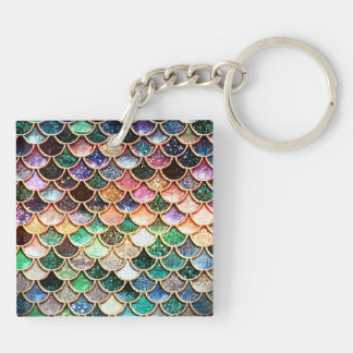 Luxury Glitter Mermaid Scales - Multicolor Keychain