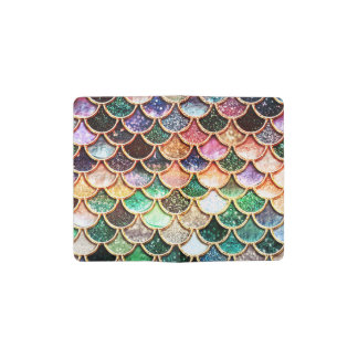 Luxury Glitter Mermaid Scales - Multicolor Pocket Moleskine Notebook