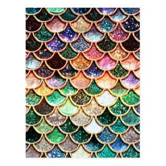 Luxury Glitter Mermaid Scales - Multicolor Postcard