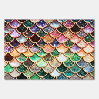Luxury Glitter Mermaid Scales - Multicolor Sign