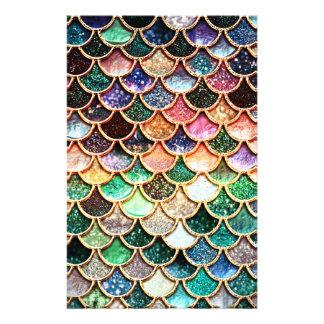 Luxury Glitter Mermaid Scales - Multicolor Stationery