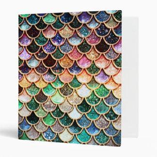 Luxury Glitter Mermaid Scales - Multicolor Vinyl Binder