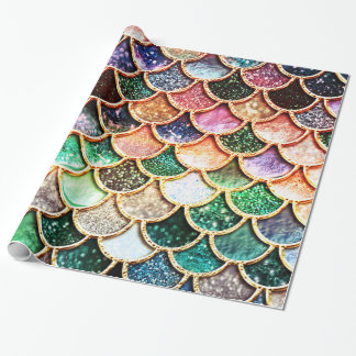 Luxury Glitter Mermaid Scales - Multicolor Wrapping Paper