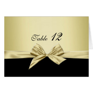 Luxury Gold and Black Ribbon Table card