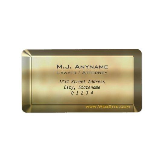 Luxury gold bar effect Lawyer / Attorney design