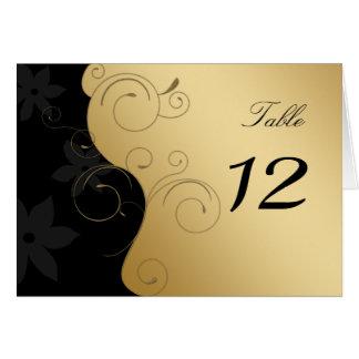 Luxury Gold-Black Wedding Table Card