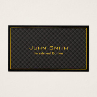 Luxury Gold Border Investment Banker Business Card