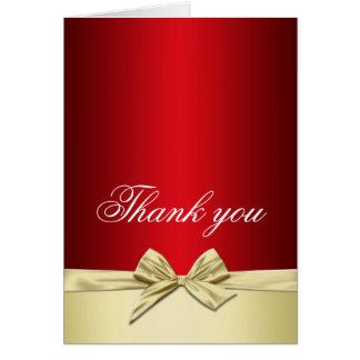 Luxury Gold Christmas Ribbon Thank you card
