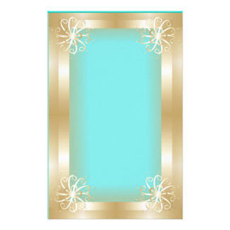 Luxury Gold Frame Stationery