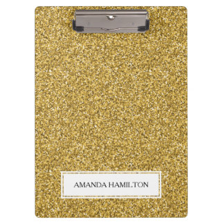 Luxury gold  Glitter add your name Clipboard