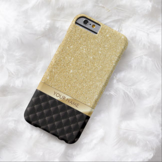 Luxury Gold Glitter Custom Name iPhone 6 case
